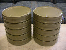 10- 400ft 35mm movie film CANS - NEW STEEL