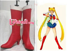 Anime Sailor Moon Tsukino Usagi Red Cosplay Shoes Boots Customized Size SE74