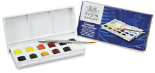 Winsor & Newton Cotman Watercolour Paint Sketchers Pocket Box Set 12 Half Pans