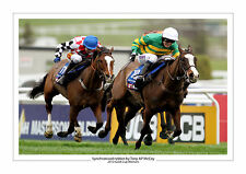 SYNCHRONISED HORSE RACING A4 PHOTO PRINT TONY AP MCCOY CHELTENHAM GOLD CUP 2012