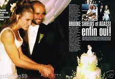 Coupure de Presse Clipping 1997 (4 pages) Mariage Brooke Shields et Agassi