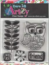 Dare 2B Artzy Retro Owl Clear Cling Rubber Stamps