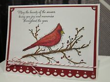 DIY Stampin Up BEAUTY OF THE SEASON Christmas Cardinal Holiday Handmade Card Kit