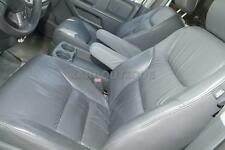 Fits 05-10 Honda Odyssey Real Leather Seat Armrest Covers Gray