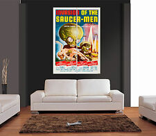 INVASION OF THE SAUCER MEN MOVIE FILM Giant Wall Art Print Picture Poster