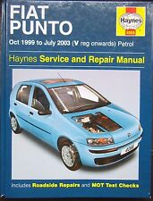 Haynes Workshop Manual Fiat Punto (Petrol) from 1999 to 2003.