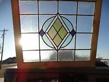17525- Antique Victorian Church Stained Glass Window 1880 Architectural Salvage