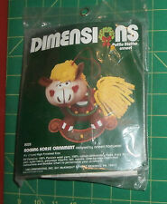 """Rocking Horse Ornament Dimensions Puffie Stuffns Crewel Kits Unopened 4.5"""""""