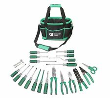 22-Piece Electrician's Tool Set tools commercial electric screwdriver bag kit