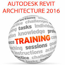 Autodesk Revit Architecture 2016 (imperial) - Video Tutorial DVD de entrenamiento