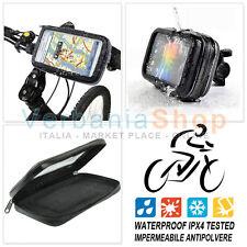 SUPPORTO IMPERMEABILE BICICLETTA MOTO NOKIA SAMSUNG GALAXY NOTE GPS - 15 x 8 cm