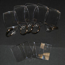 100 Blank Make Your Own Acrylic Plastic Quality Clear Keyrings 24x35mm Insert