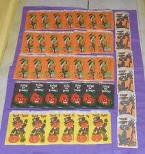 vintage LOT OF HALLOWEEN TRICK OR TREAT BAGS