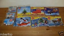 Lego Christmas Holiday Polybag sets GREAT STOCKING STUFFERS! retired lot