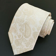 Mens Classic Jacquard Silk Tie Paisley Party Wedding Work Various Colours