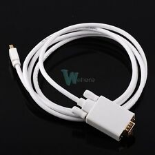 New Thunderbolt Mini Display Port DP to VGA Cable Adapter F Macbook Mac Air Pro