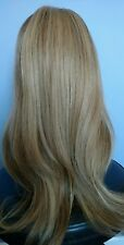 100% Human European Hair Wig Hand Tied Top Lace Front Blonde Medium Long