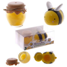 Honey Pot and Bee Lip Balm Gift Set Of 2 Lip Balm / Glosses Lovely Gift Idea