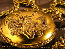 Antique Style Chinese Ming Dynasty Dragon Pocket Watch Golden Free Gift Box