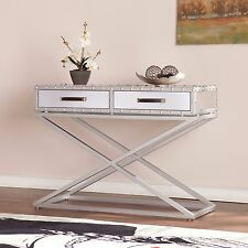 MCT31084 INDUSTRIAL MIRRORED CONSOLE TABLE