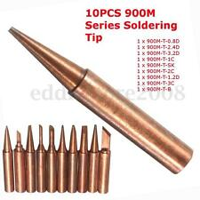 10pcs 900M-T Soldering Tip Pure Copper Electric Iron Head Series Solder Tool