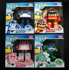 Robocar Poli DELUXE POLI ROY AMBER HELLY Transformers Transforming 4-figures set