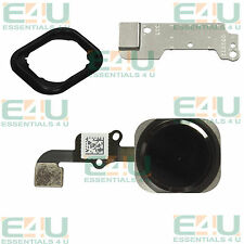4 Part Black Home Button Flex Cable Touch ID Assembly For Apple iPhone 6