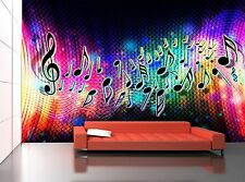 Note Music Wave  Wall Mural Photo Wallpaper GIANT WALL DECOR Paper Poster