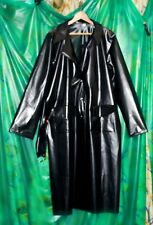 Woman's black c/through dress coat in the new PU 200 micron material size UK XXL