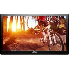 "AOC e1659FWU 16"" LED USB Powered Portable Monitor with case"