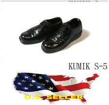1/6 kumik women oxford flats shoes black S-5 Phicen hot toys ship from U.S.