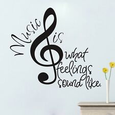 Music What Feelings...Wall Sticker Removable Mural Decal Home Decor Vinyl Art