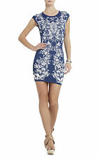 NWT BCBG MAXAZRIA ELLENA JACQUARD LUXUEUSE À FLEURS COCKTAIL DRESS  XXS