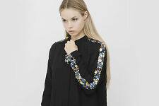 CHLOE Black Silk Blend Jewel Embellished Long Sleeve Button Up Blouse Top 4/36/S
