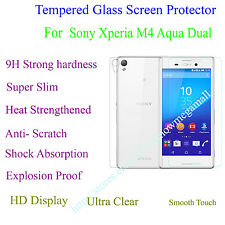 Front & Back Tempered Glass Back Case Cover Protector  Sony Xperia M4 Aqua Dual