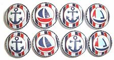 8 Ahoy Mate Nautical Wooden Dresser Baby Bedding Cordinate Drawer Knobs Pulls