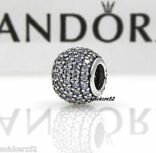 791051LCZ - NEW AUTHENTIC PANDORA SS PAVE LIGHTS, LAVENDER CZ CHARM / BEAD