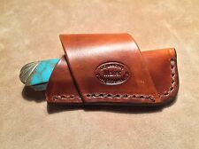 "Custom Leather Crossdraw Sheath for 4"" Trapper knife. Knife NOT Included"