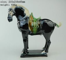Collect Tang Sancai Pottery Running Feng Shui Horse Horses Succeed Animal Statue