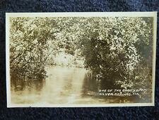 1930/40's RPPC One of the Beauty Spots in Silver Springs, Fl Florida PC
