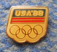 NOC USA OLYMPIC SEOUL CALGARY 1988 PIN BADGE