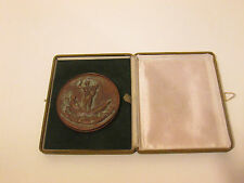 Large Italian Bronze Medal or Plaque Depicting Ancient Roman Scene - Interesting