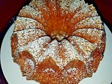 """Vanilla Rum Cake - Homemade w walnuts 7"""" ask for other flavors"""