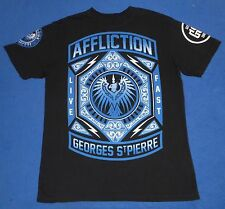Affliction MMA Georges St.Pierre Signature Black Graphic Tshirt Mens Size Medium