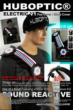 Attach-On Light Up Strap Electric LED Strap Cover Equalizer Pad Strap Belt Patch