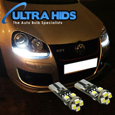 VW GOLF MK5 GTI LUCE LATERALE UPGRADE XENO BIANCO LUMINOSO T10 W5W 8 LED SMD