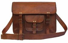 Men's Genuine Vintage Leather Messenger Shoulder Laptop Bag - Mens Leather Bags