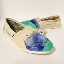 NEW! Women's TOMS 'The Hills Are Alive' Hand Painted Classic Shoes - Size: 7