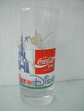 COCA COLA® VERRE BELGIQUE EURO DISNEY MAGASIN GB FEE CLOCHETTE H 14.5 CM N° 891