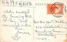 ARGENTINA SCOTT #444 OIL WELL STAMP BUENOS AIRES TO USA VIA AIRMAIL POSTCARD